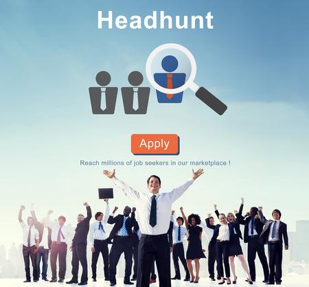 Headhunten Recruitment Scouting inhuren Employment Concept