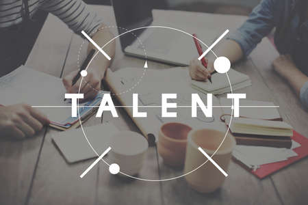 skill: Talent Skill Abilities Expertise Quality Concept Stock Photo