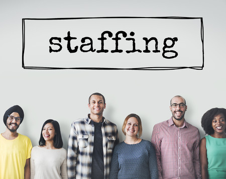 staffing: Staffing Friends Organization Company Colleagues Concept