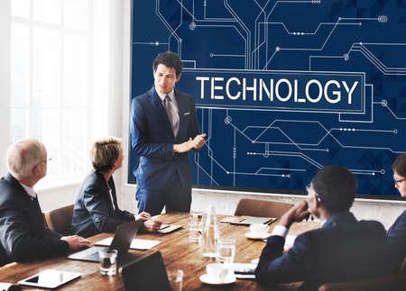 evolucion: Avanzada Tecnología Innovación Concepto Evolución Desarrollo