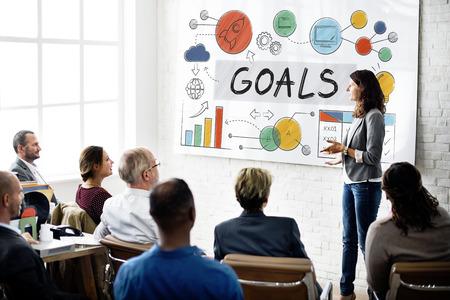 place of work: Goals Data Mission Target Aspiration Concept