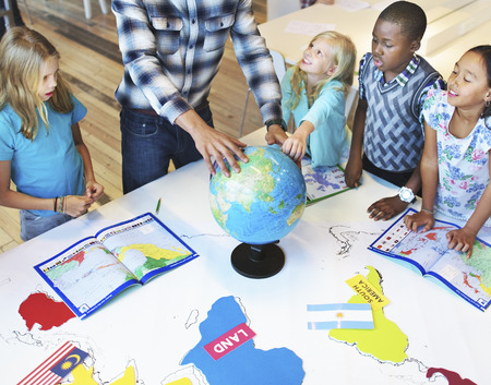 geography: Students Geography Learning Classroom Concept