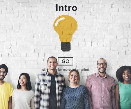 Intro Launch Start Create Innovation Web Online Concept