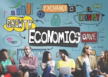 cash money: Economics Money Cash Flow Graphics Concept Stock Photo