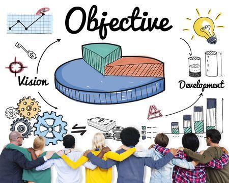 Objective Target Aspirations Aim Purpose Concept 版權商用圖片 - 54699780