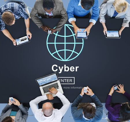 globalization: Cyber Internet Online Connection Globalization Concept