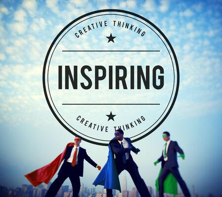 creative force: Inspire Inspiring Inspiration Motivate Innovate Concept Stock Photo