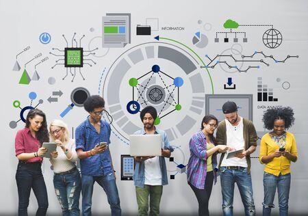 情報技術のデジタル ネットワークのコンセプト