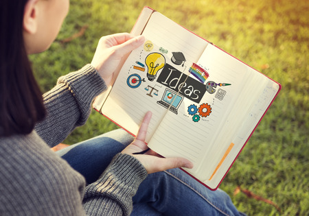 skills: Ideas Innovation Vision Graphics Concept Stock Photo