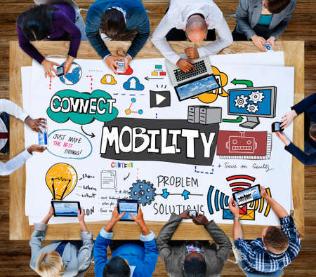 mobility: Mobility Trends Social Media Networking Connection Concept