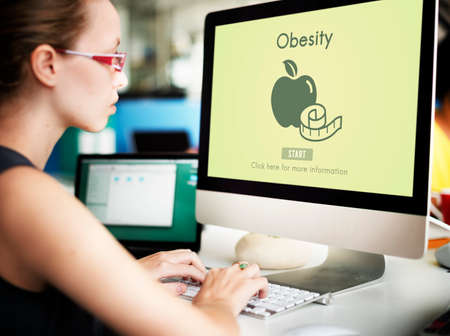 disorder: Obesity Diet Eating Disorder Unhealthy Diabetes Fat Concept