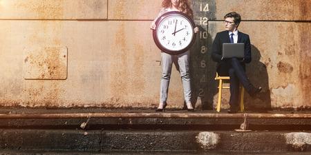 gestion del tiempo: Temporal Tiempo de Gesti�n de la Lista Concepto Organizaci�n Foto de archivo