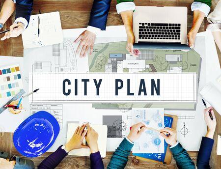 municipality: City Plan Municipality Community Town Management Concept Stock Photo