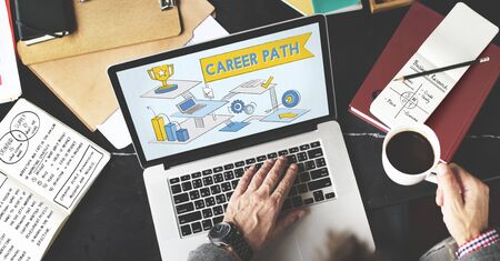 career path: Career Path Employment Human Resources Work Concept