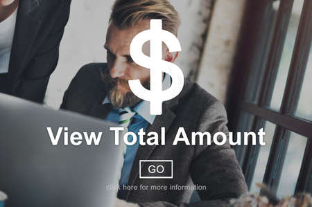 amount: View Total Amount Accounting Payment Tax Concept Stock Photo
