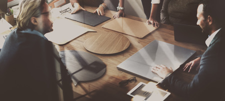 teamwork people: Business Team Meeting Project Planning Concept