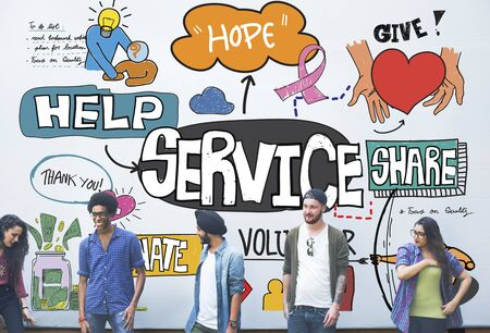 helping hand: Service Server Support Utility Aid Assistance Care Concept