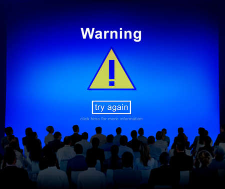 notification: Warning Attention Alert Notification Security Sign Concept