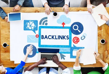 thinking link: Backlink Hyperlink Networking Internet Online Technology Concept