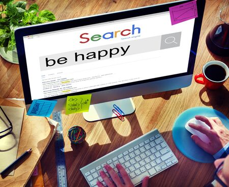 enjoyment: Be Happy Enjoyment Cheerful Fun Happiness Concept