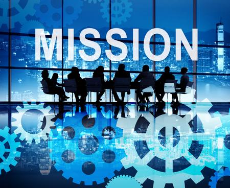 Mission Aim Aspiration Business Goals Concept