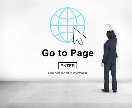 go button: Go To Page Enter Button Interface Concept