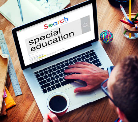 special education: Special Education Studying School ADHA Behavior Concept