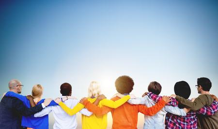 huddle: Diversity People Huddle Teamwork Union Concept Stock Photo