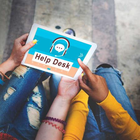 service desk: Help Desk Operator Customer Care Service Concept