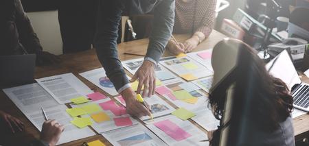 Zakenmensen Planning Strategy Analysis Office Concept