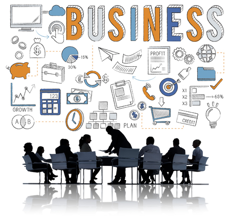 business meeting: Business Team Meeting Discussion Communication Concept Stock Photo