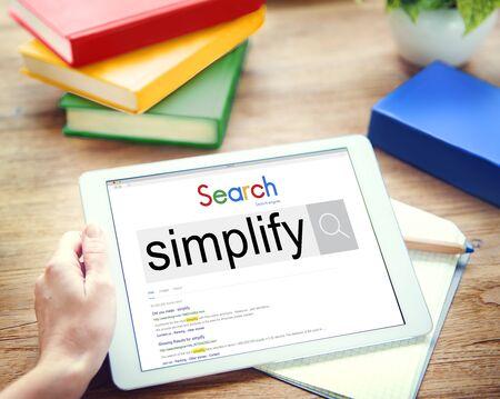 clarify: Simplify Clarify Easy Simple Concept Stock Photo