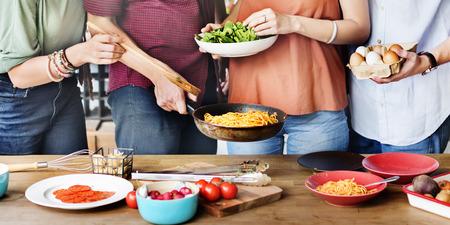 Amis chef cuisinier cuisine Concept Banque d'images