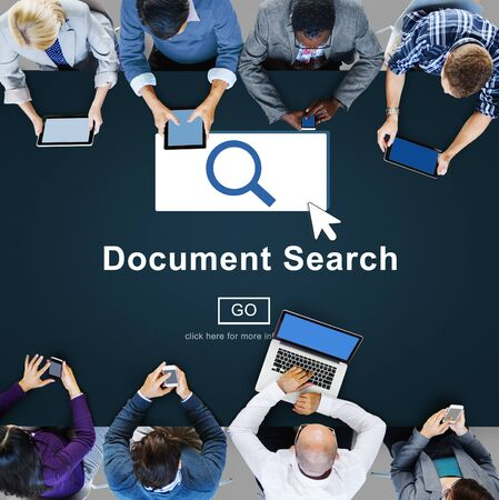 looking for work: Document Search Finding Forms Inspect Letters Concept