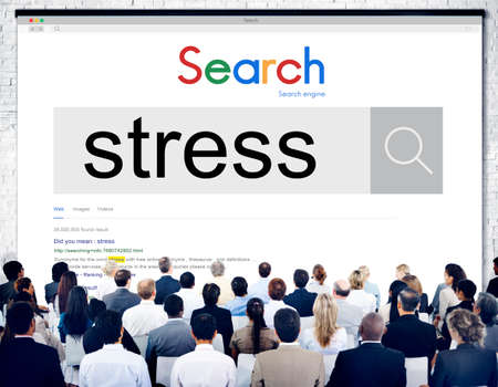 tension: Stress Panic Anxiety Pressure Tension Worry Concept Stock Photo