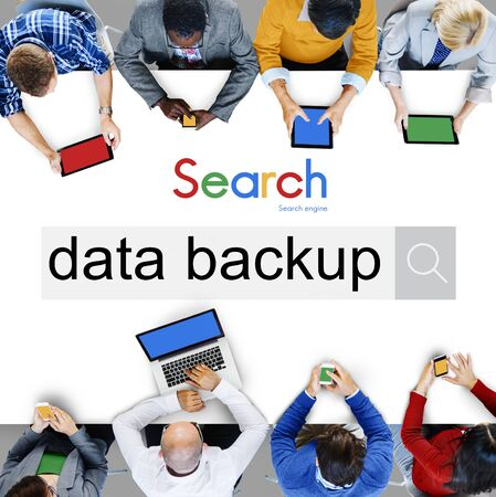 data archiving: Data Backup Copying Archiving Storage Technology Concept