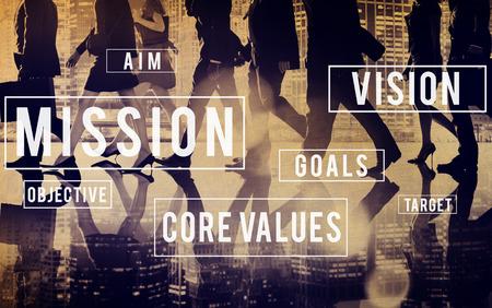 Миссия Мотивация Цель План Аспирация Концепция Фото со стока