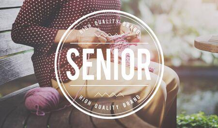 pension: Senior Citizen Pension Retirement Concept Stock Photo