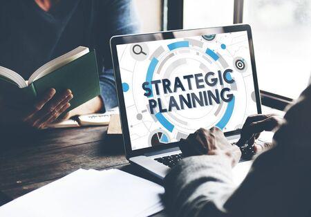 Processus de planification stratégique du Plan d'action Concept Banque d'images