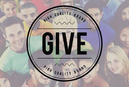 smile please: Give Give Back Helping Hand Charity Donate Concept