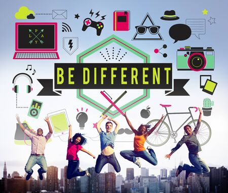 be different: Be Different Ideas Significant Effect Change Difference Concept