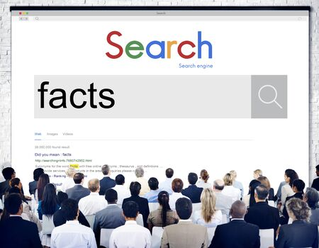 information point: Facts Information Point Certainty Datails Factor Concept Stock Photo