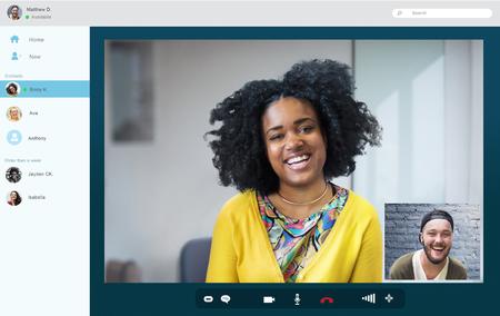 Friends Chat Video Call Connection Online Concept Foto de archivo