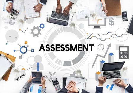 Assessment Evaluation Analysis Management Report Concept Stock Photo