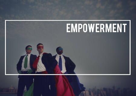 enabling: Empowerment Enable Encouragement Power Concept Stock Photo