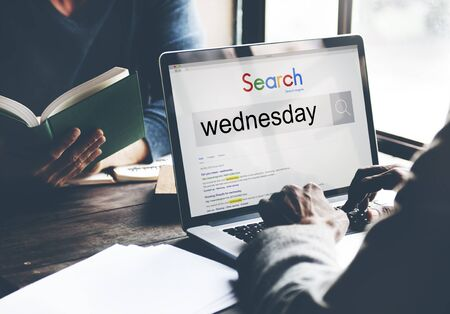 wednesday: Wednesday Day Dates Date Week Weekday Agenda Concept Stock Photo