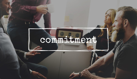 commitment: Commitment Decision Choice Change Direction Concept Stock Photo