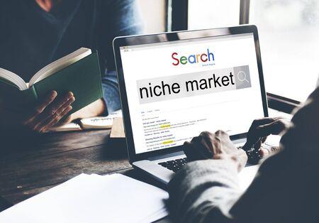 La demanda de los consumidores nicho de mercado concepto objetivo