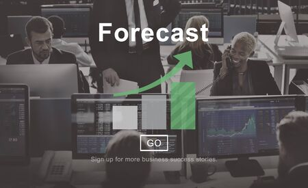financial occupation: Forecast Prediction Plan Goal Concept Stock Photo