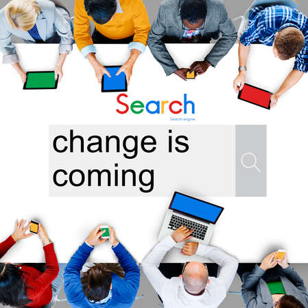 be the change: Change is Coming Forward Improvement Concept Stock Photo